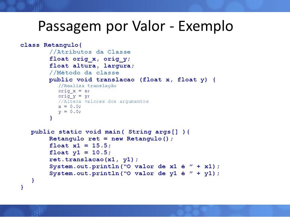 Passagem por Valor - Exemplo