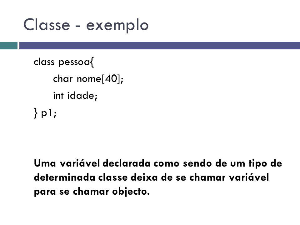 Classe - exemplo