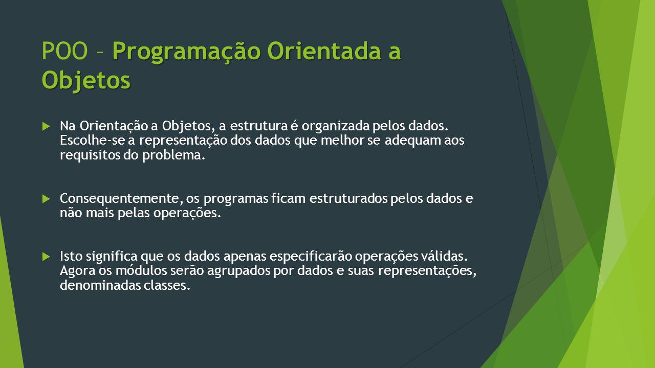 POO – Programação Orientada a Objetos