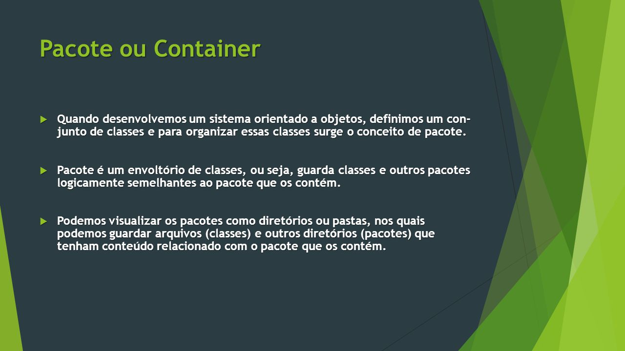 Pacote ou Container