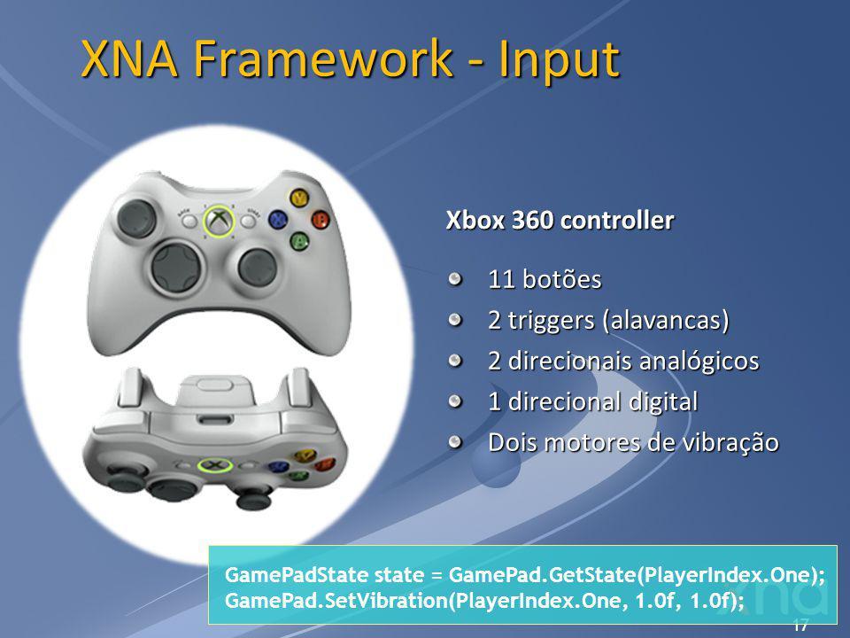 XNA Framework - Input Xbox 360 controller 11 botões