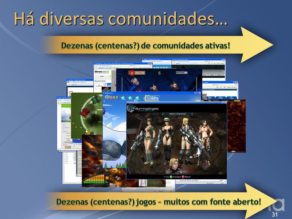 Há diversas comunidades…