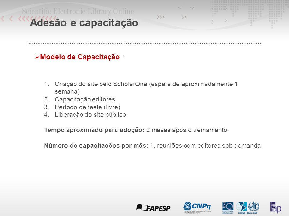 Adesão e capacitação Modelo de Capacitação :