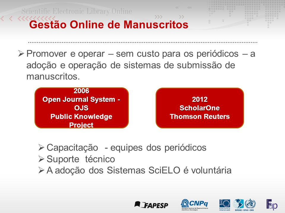 Open Journal System - OJS Public Knowledge Project