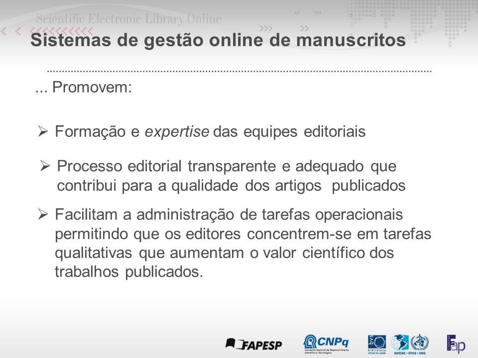 Sistemas de gestão online de manuscritos