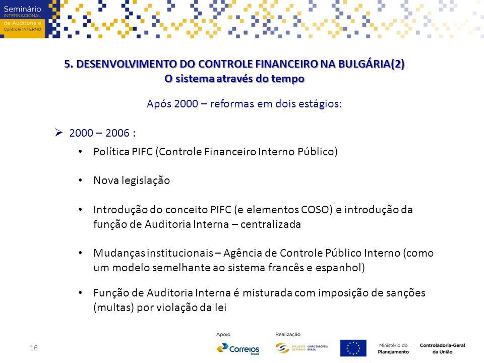 5. DESENVOLVIMENTO DO CONTROLE FINANCEIRO NA BULGÁRIA(2)