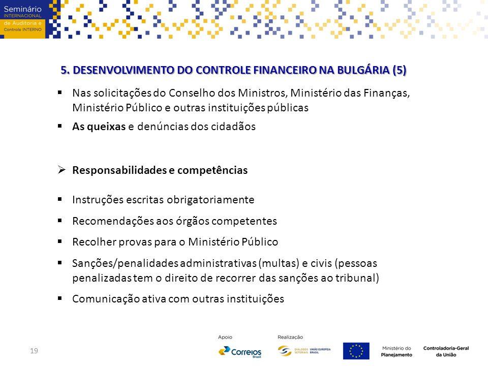 5. DESENVOLVIMENTO DO CONTROLE FINANCEIRO NA BULGÁRIA (5)