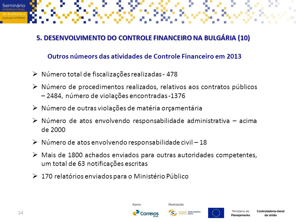 5. DESENVOLVIMENTO DO CONTROLE FINANCEIRO NA BULGÁRIA (10)