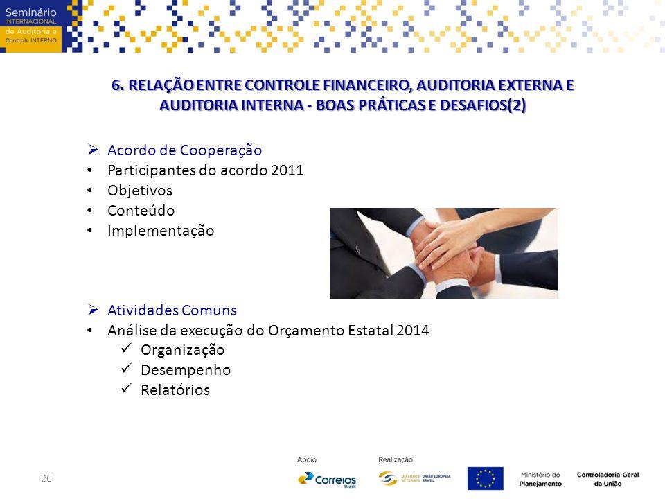 6. RELAÇÃO ENTRE CONTROLE FINANCEIRO, AUDITORIA EXTERNA E AUDITORIA INTERNA - BOAS PRÁTICAS E DESAFIOS(2)