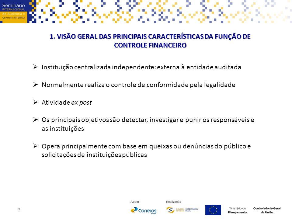 1. VISÃO GERAL DAS PRINCIPAIS CARACTERÍSTICAS DA FUNÇÃO DE CONTROLE FINANCEIRO