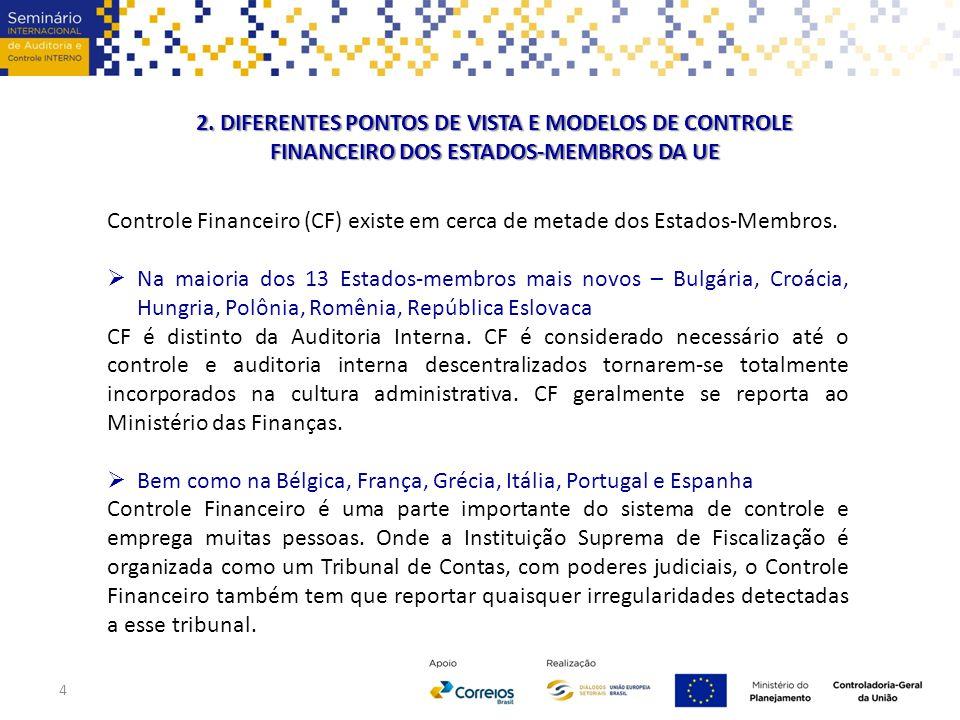 2. DIFERENTES PONTOS DE VISTA E MODELOS DE CONTROLE FINANCEIRO DOS ESTADOS-MEMBROS DA UE