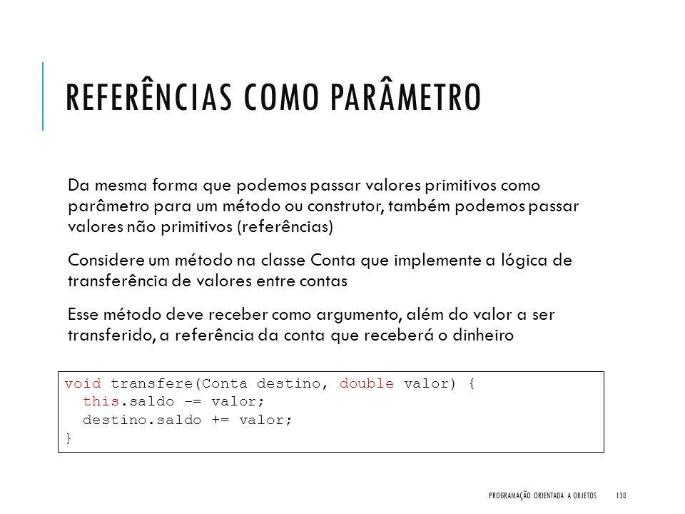 Referências como parâmetro
