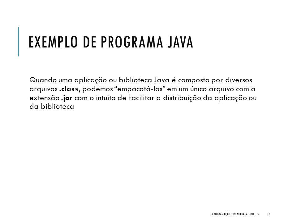 Exemplo de Programa Java