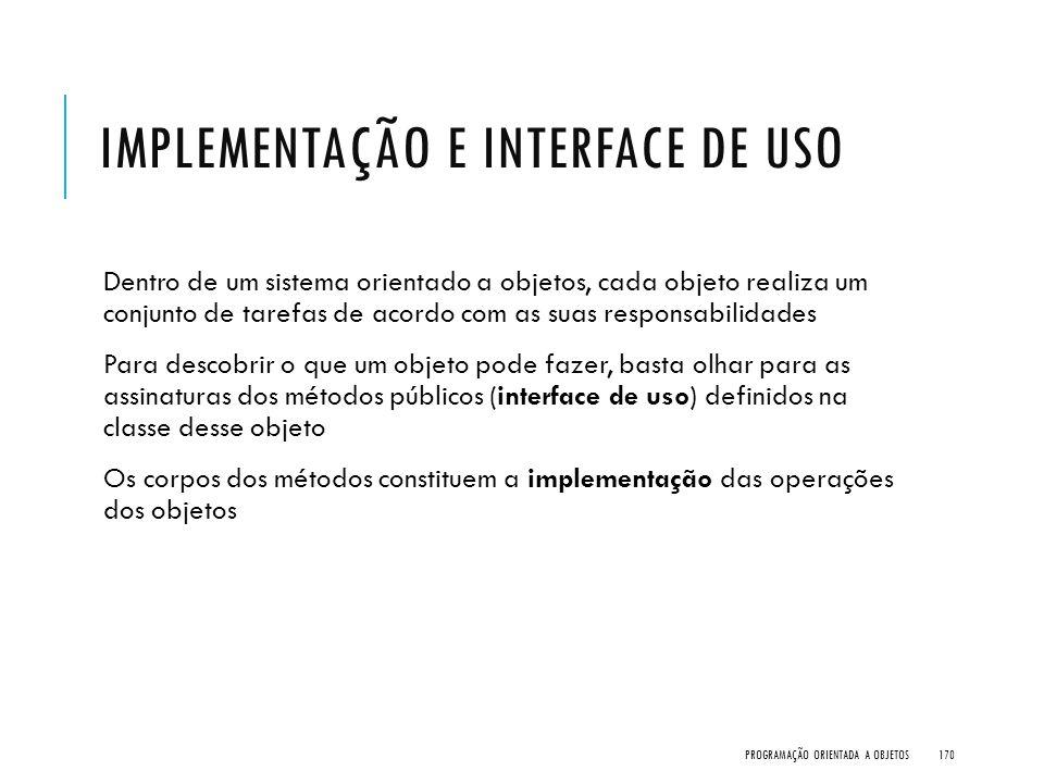 Implementação e Interface de Uso