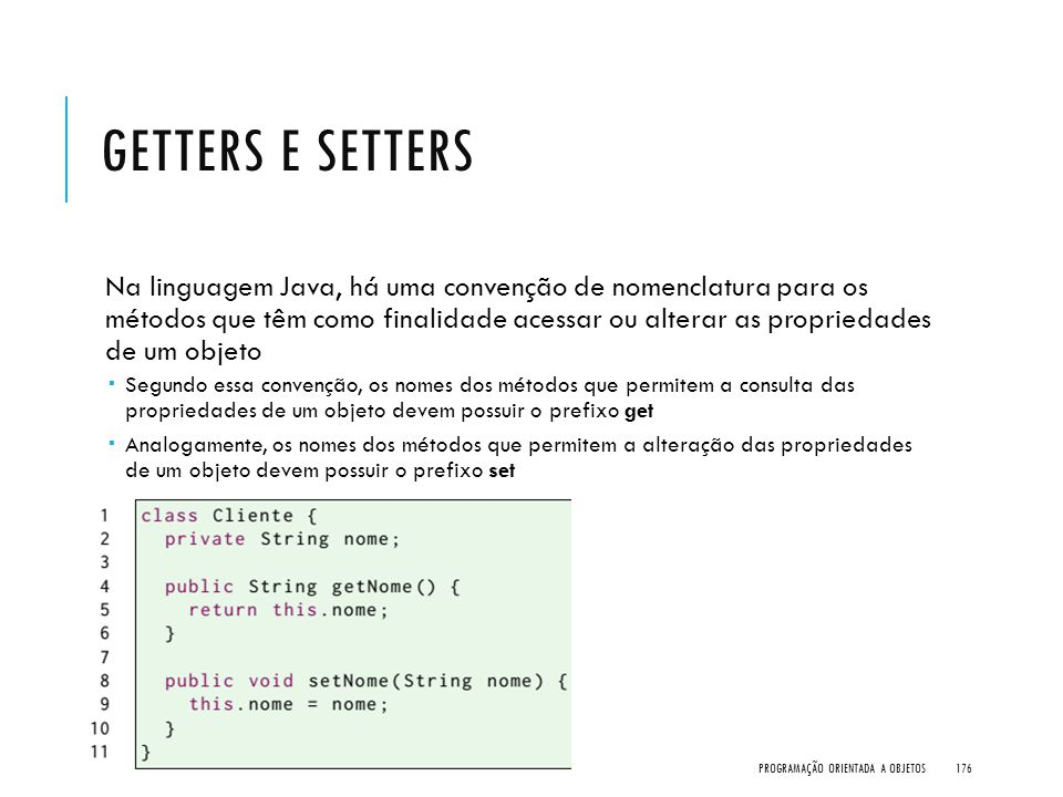 Getters e Setters