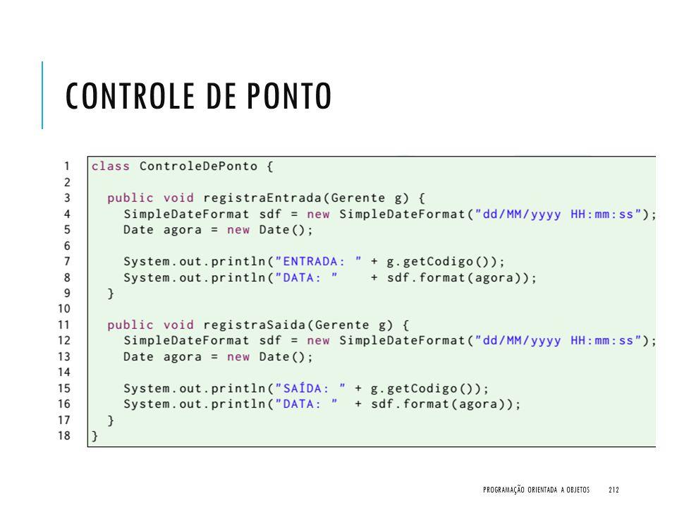 Controle de Ponto Programação Orientada a Objetos
