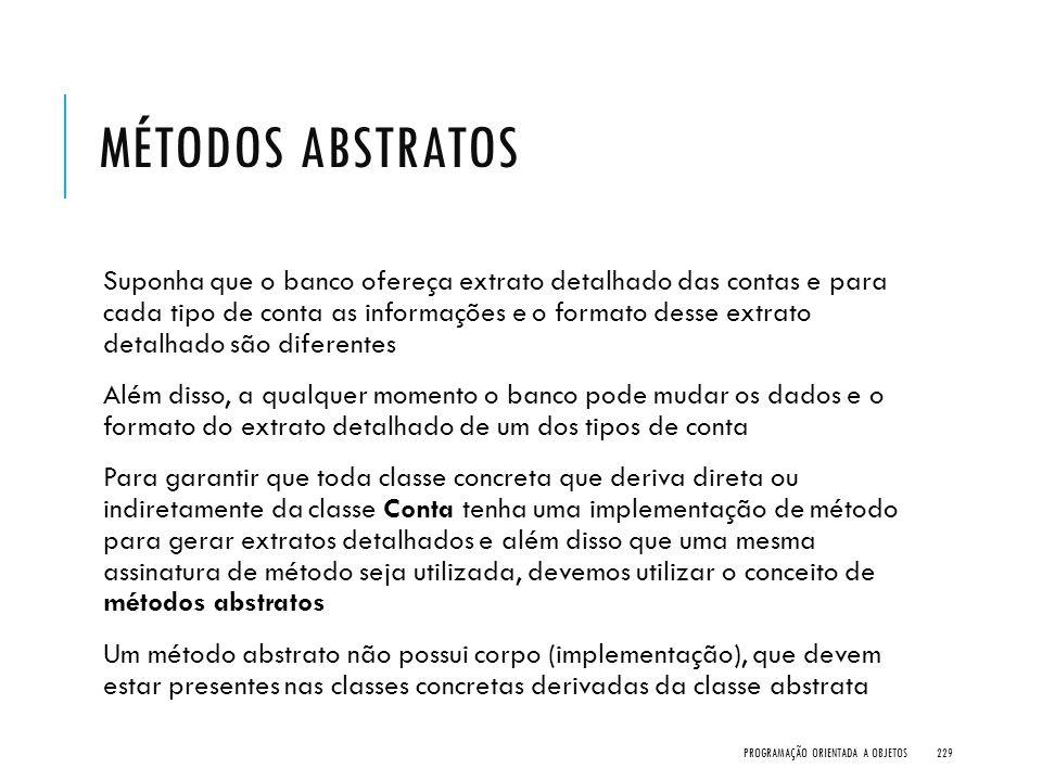 Métodos Abstratos