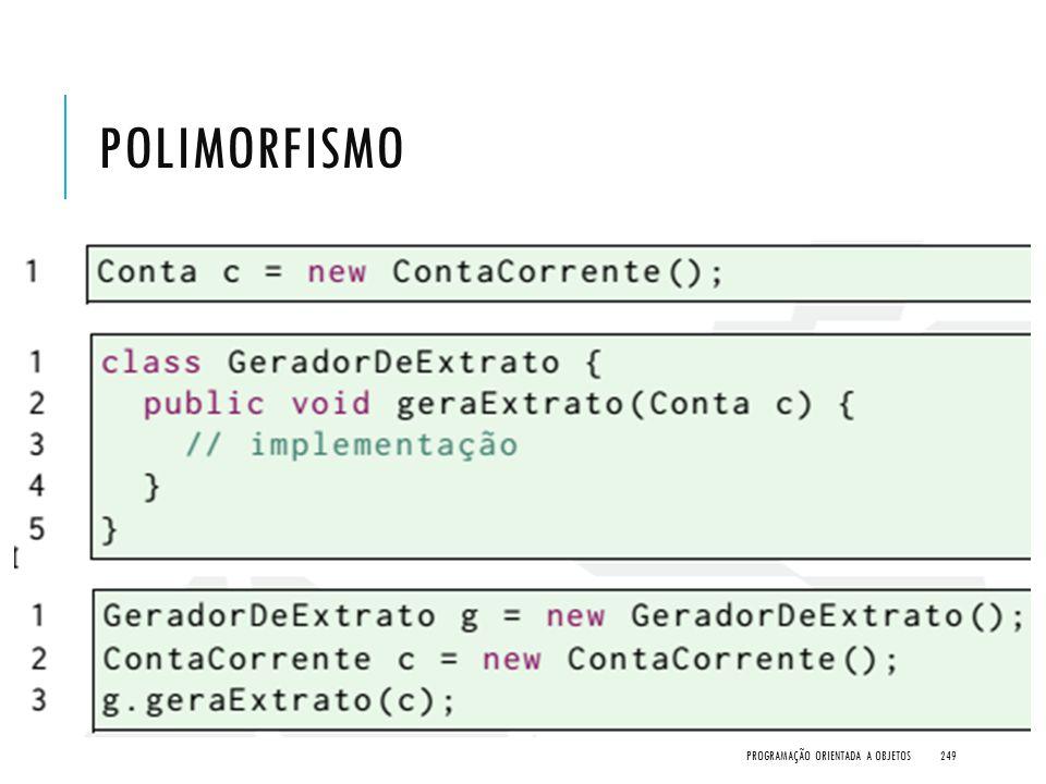 Polimorfismo Programação Orientada a Objetos