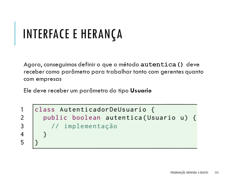 Interface e Herança