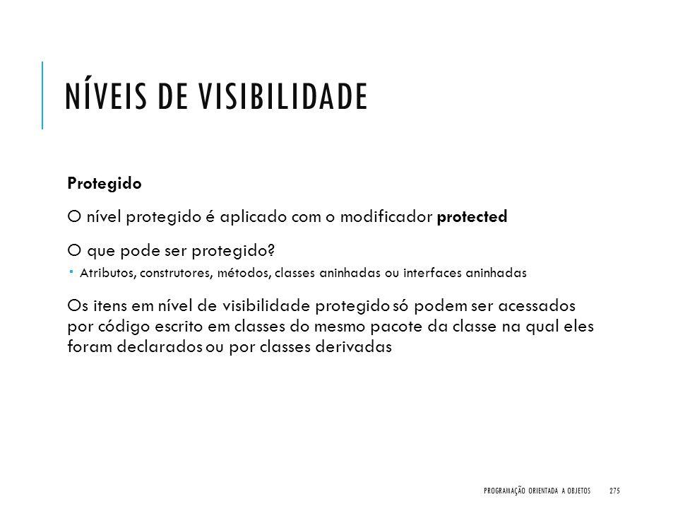 Níveis de visibilidade