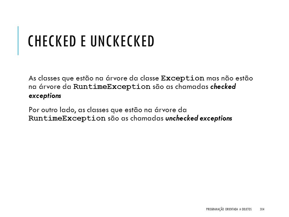 Checked e Unckecked