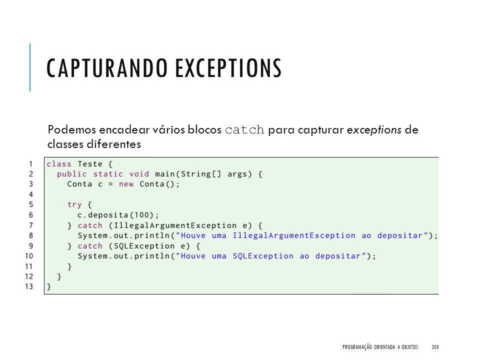 Capturando exceptions