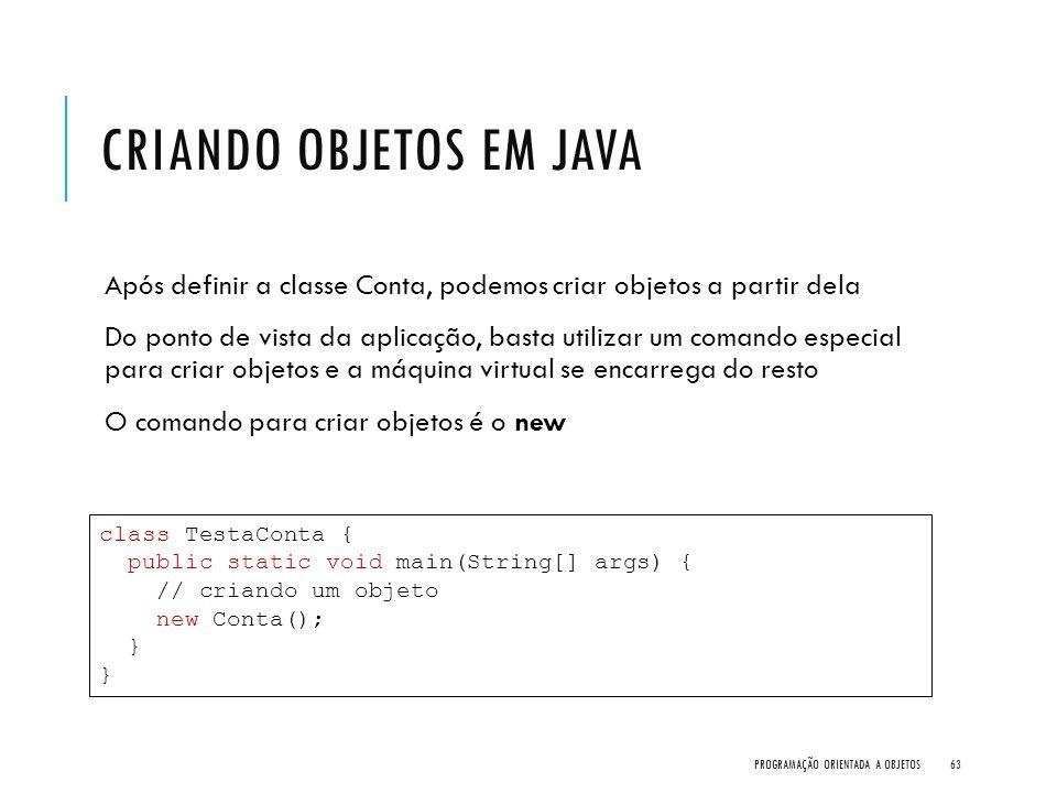 Criando objetos em Java