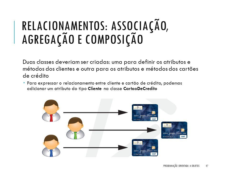 Relacionamentos: Associação, Agregação e Composição