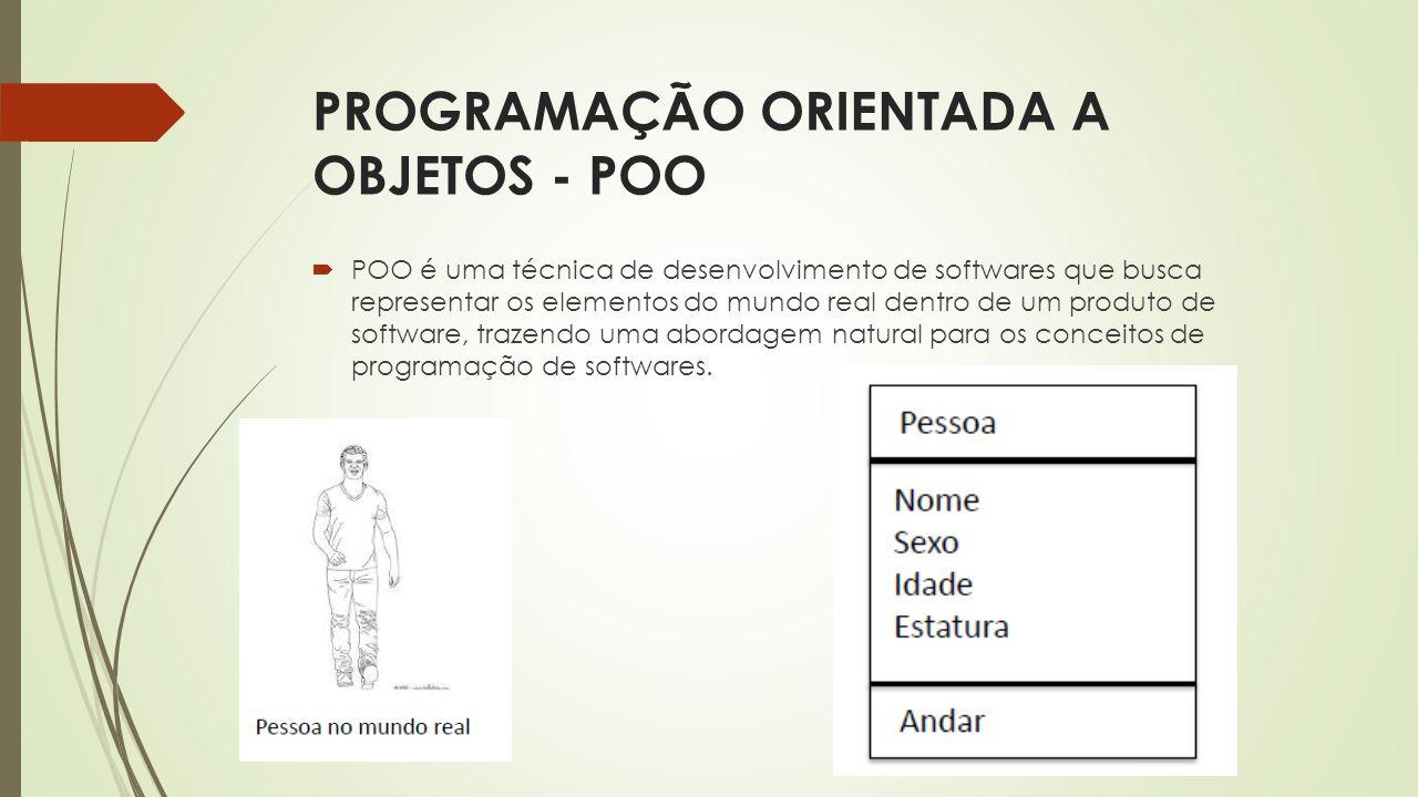 PROGRAMAÇÃO ORIENTADA A OBJETOS - POO
