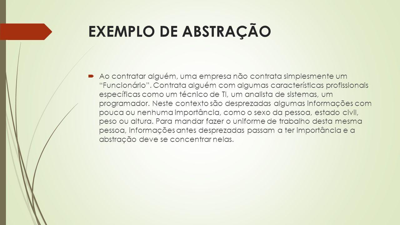 EXEMPLO DE ABSTRAÇÃO