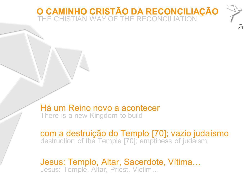 O CAMINHO CRISTÃO DA RECONCILIAÇÃO