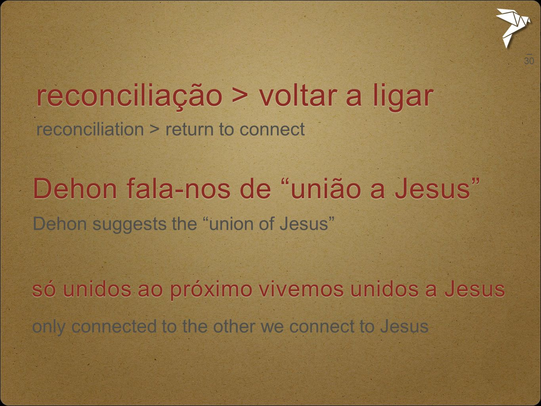 reconciliação > voltar a ligar