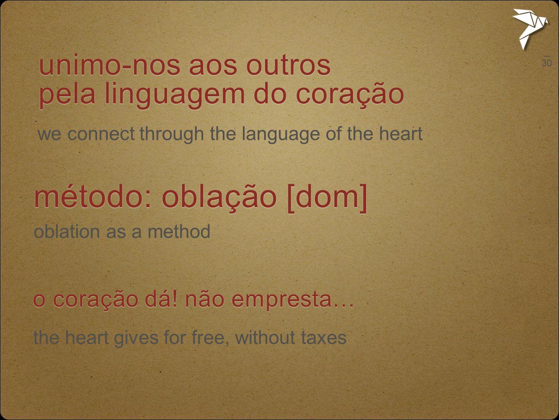 unimo-nos aos outros pela linguagem do coração