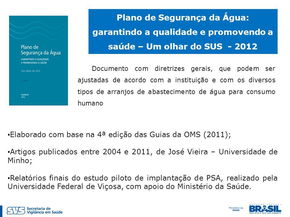 Documento com diretrizes gerais, que podem ser ajustadas de acordo com a instituição e com os diversos tipos de arranjos de abastecimento de água para consumo humano