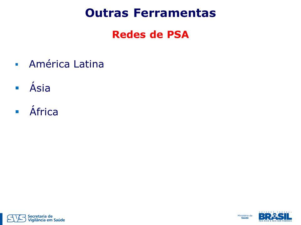 Outras Ferramentas Redes de PSA América Latina Ásia África