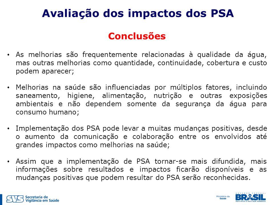 Avaliação dos impactos dos PSA