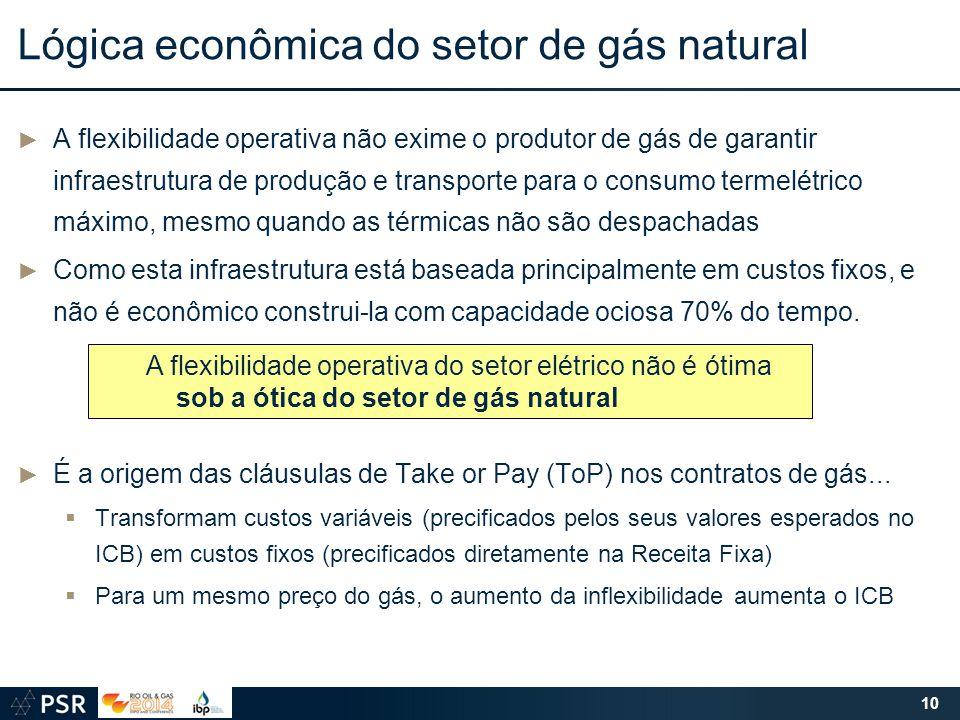Lógica econômica do setor de gás natural