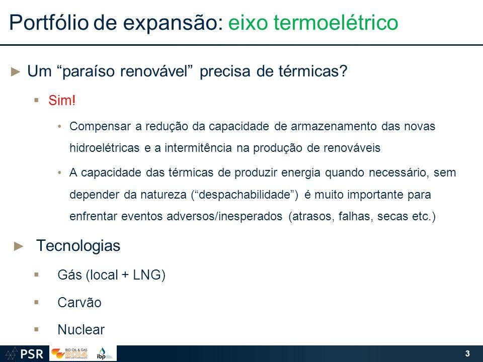 Portfólio de expansão: eixo termoelétrico