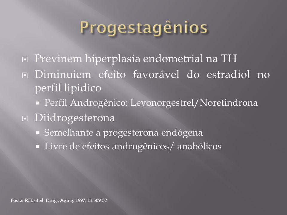Progestagênios Previnem hiperplasia endometrial na TH