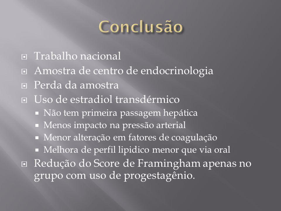 Conclusão Trabalho nacional Amostra de centro de endocrinologia