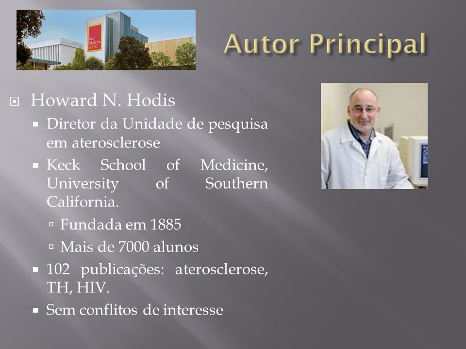 Autor Principal Howard N. Hodis