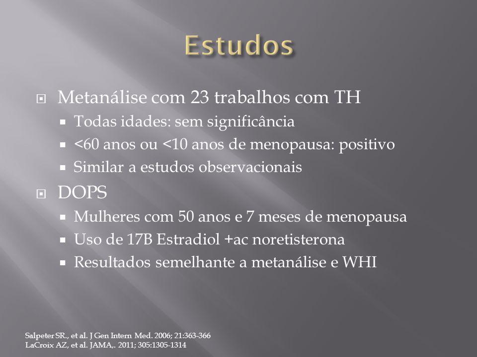 Estudos Metanálise com 23 trabalhos com TH DOPS