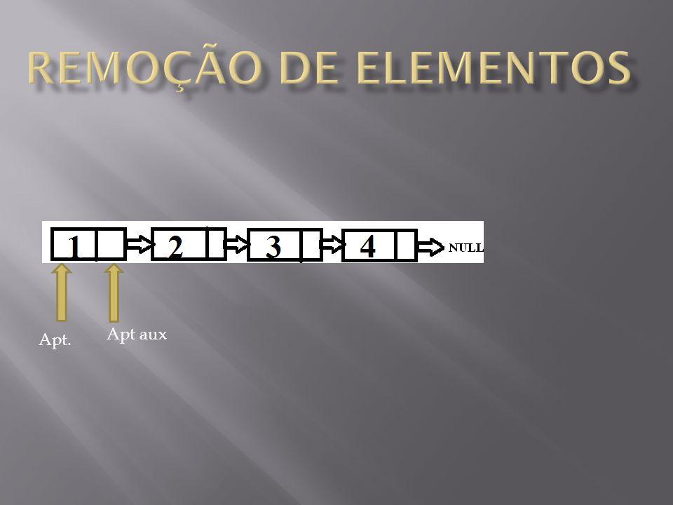 remoção de elementos Apt aux Apt.