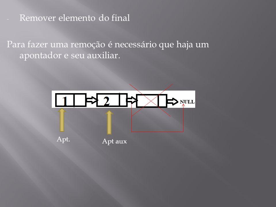 Remover elemento do final