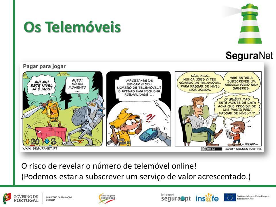 Os Telemóveis O risco de revelar o número de telemóvel online.