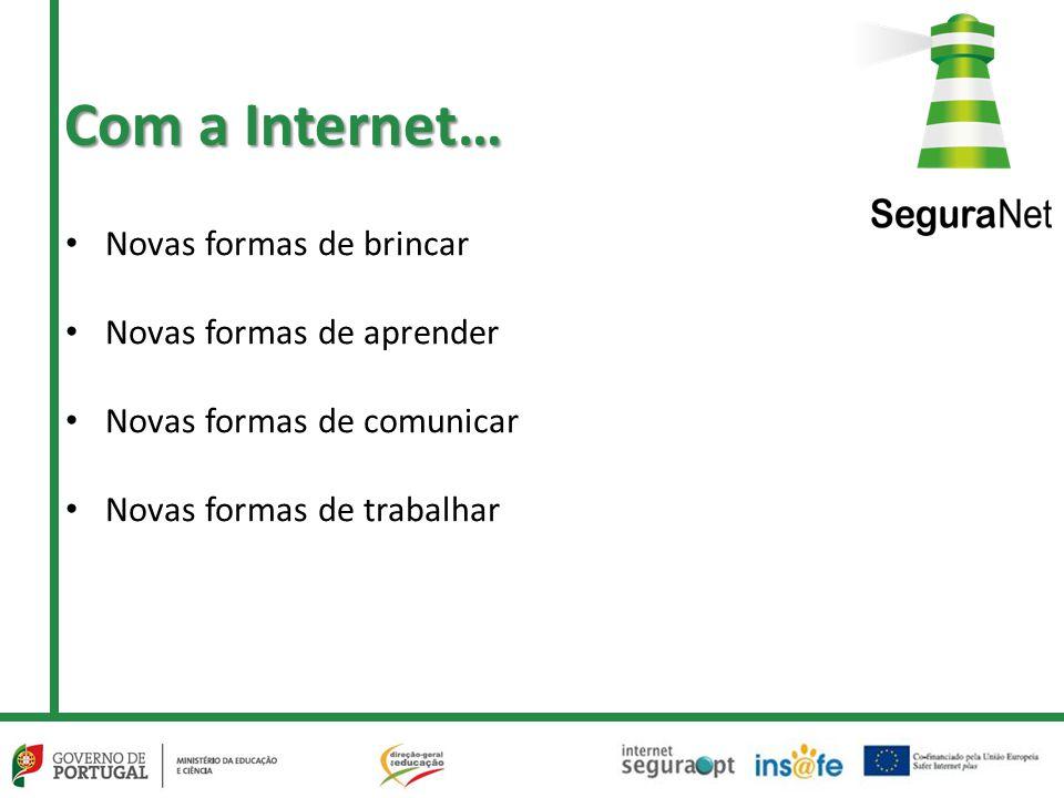 Com a Internet… Novas formas de brincar Novas formas de aprender