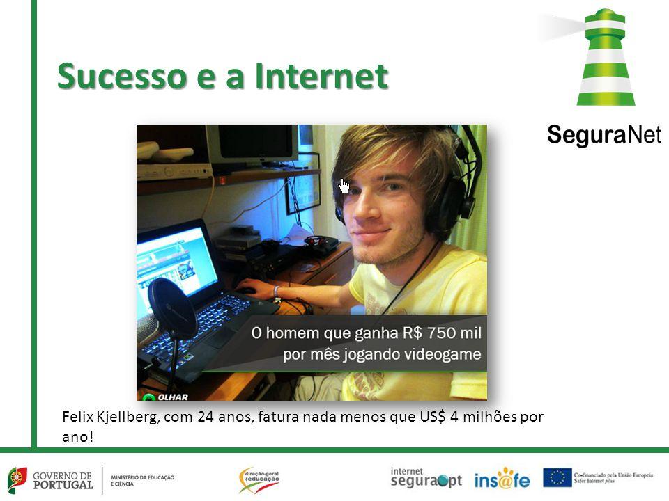 Sucesso e a Internet Felix Kjellberg, com 24 anos, fatura nada menos que US$ 4 milhões por ano!