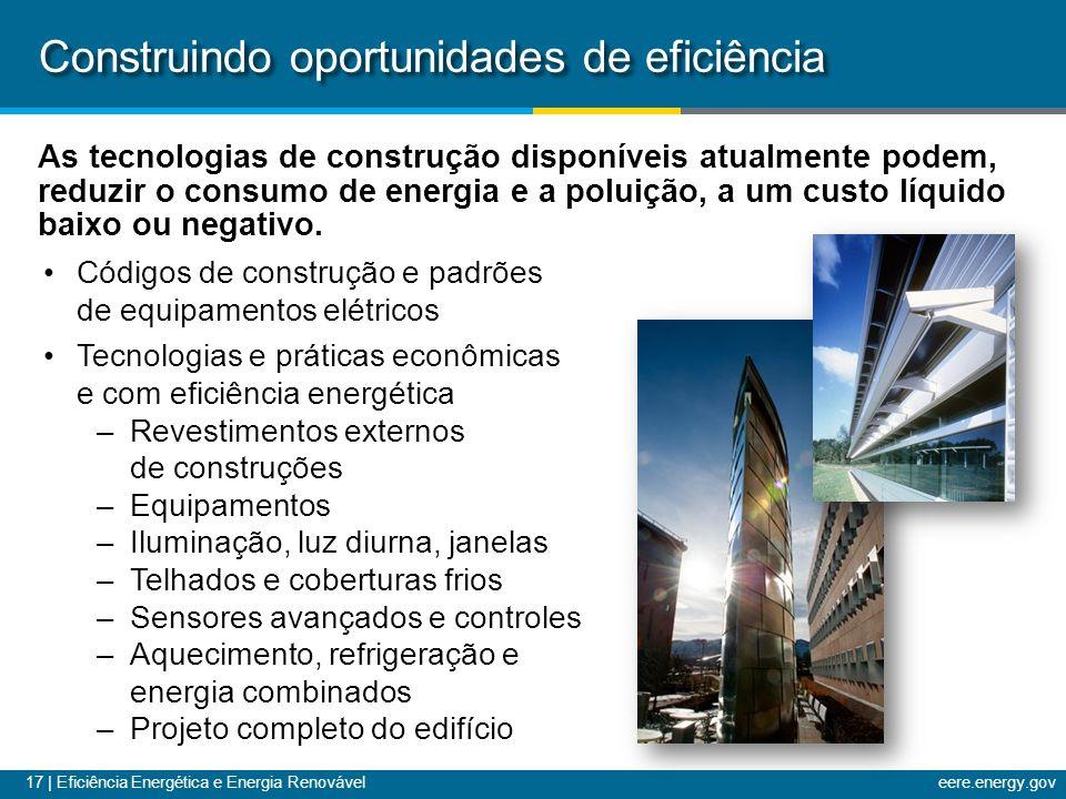 Construindo oportunidades de eficiência