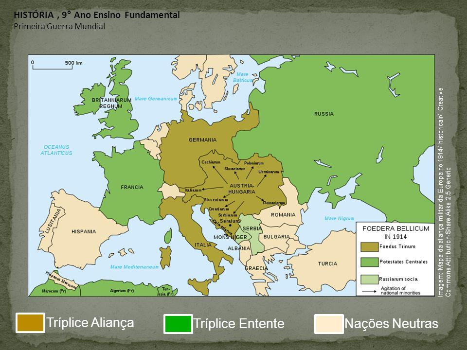 Tríplice Aliança Tríplice Entente Nações Neutras