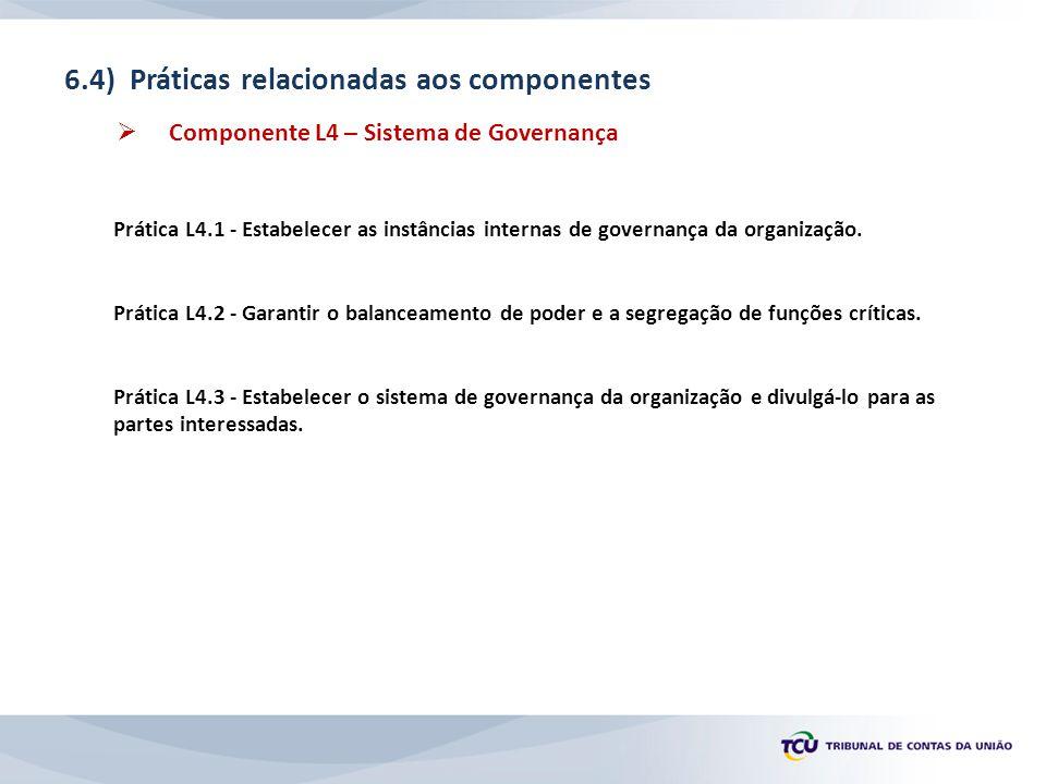 6.4) Práticas relacionadas aos componentes